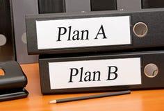 Выбор плана a или связывателей b плана Стоковые Изображения RF