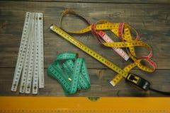 Выбор различных измеряя инструментов стоковое фото rf
