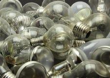 Выбор различных используемых лампочек Стоковые Фото