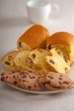 Выбор сладостных хлеба и печений Стоковое Изображение RF