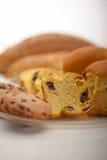 Выбор сладостных хлеба и печений Стоковая Фотография