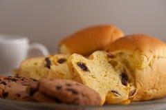 Выбор сладостных хлеба и печений Стоковые Фото