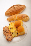 Выбор сладостных хлеба и печений Стоковое Фото