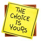 Выбор твое вдохновляющее напоминание Стоковые Изображения