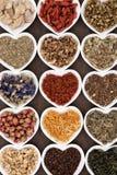 Выбор травяного чая Стоковые Изображения