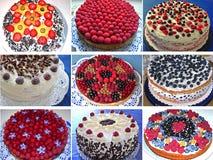 Выбор традиционных немецких тортов Стоковое Изображение
