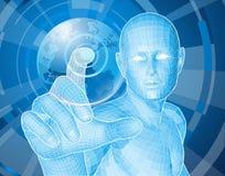 выбор человека глобуса принципиальной схемы будущий Стоковое Изображение
