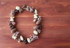 Выбор шоколадов пасхи Стоковое Фото
