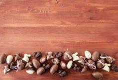 Выбор шоколадов пасхи Стоковые Фото