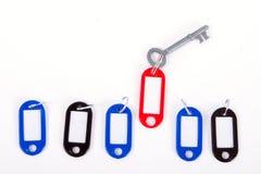 Выбор keychain руководителя красного с ключом Стоковое Изображение