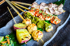 Выбор ½ s ¿ Kushiyaki Moriawase Chefï 5 протыкальников видов Стоковая Фотография RF