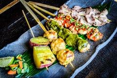 Выбор ½ s ¿ Kushiyaki Moriawase Chefï 5 протыкальников видов Стоковые Изображения RF