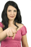 выбранная женщина I указывая вы Стоковое фото RF