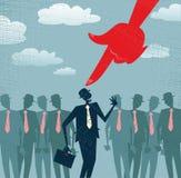 Выбран и выбран абстрактный бизнесмен. бесплатная иллюстрация