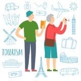 Выбытые туристы пар Стоковое Фото