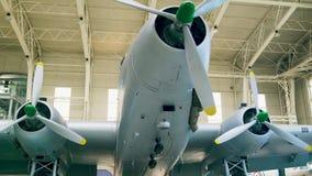 Выбытый итальянский музей военновоздушной силы, около Bracciano, камера 4k движения сток-видео