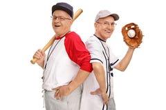 2 выбыли старшие бейсболистов Стоковое Изображение RF