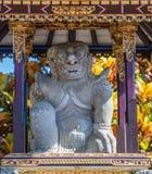 Выведенная святыня перед Kori Agung виска Batuan, Ubud, Бали Индонезии стоковое изображение rf