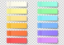Вывесите примечание липкие стикеры с слезают угол изолированный на tra иллюстрация вектора