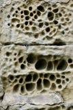 выветренная каменная стена Стоковая Фотография RF