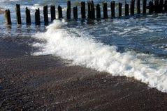 выветренное море полюсов Стоковое Фото