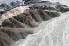 выветренные горы Стоковые Изображения