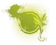 выветренный флористический медальон Стоковая Фотография