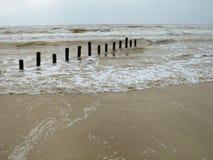 вывешивает море деревянное Стоковые Фотографии RF