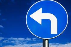 Выведенный поворот дорожного знака Стоковые Изображения
