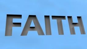 Выгравированная концепция веры Стоковое Фото