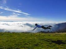Выглядеть как, что летает человек Стоковое фото RF