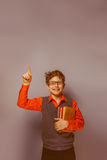 выглядящий Европейск мальчик 10 лет в стеклах Стоковое фото RF