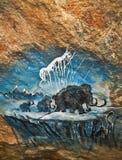 выдалбливайте картину семьи мамонтовую старую Стоковая Фотография RF