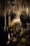 Выдалбливайте сталактиты и сталагмиты в национальном парке Cavern Карлсбада, Неш-Мексико стоковое изображение rf