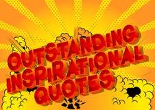 Выдающая вдохновляющая цитата - слова стиля комика бесплатная иллюстрация
