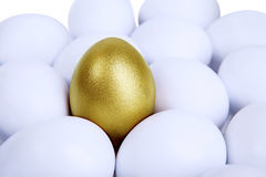 Выдающее золотистое яичко Стоковое Изображение