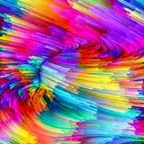 Выдвижение жидкостного цвета Стоковые Изображения RF