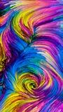 Выдвижение красочной краски Стоковая Фотография