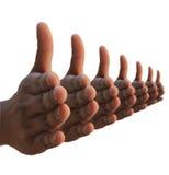 выдвинутая рука вручает много shake Стоковые Фото