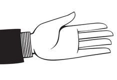 выдвинутая рука Стоковые Фото