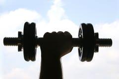 выдвинутый вес руки Стоковое Изображение RF