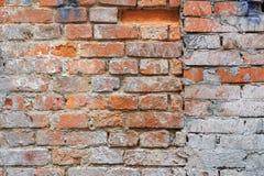 Выдержанная винтажная красная текстура кирпичной стены с краской пятнает Абстрактная предпосылка кирпичной стены стоковое фото