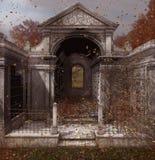 Выдержанная и пугающая могила места отдыха иллюстрация вектора