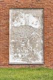 Выдержанная кирпичная стена Стоковая Фотография RF