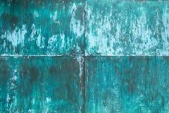 Выдержанная, окисленная медная структура стены стоковое изображение rf