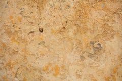Выдержанная покрашенная желтым цветом предпосылка стены Стоковая Фотография