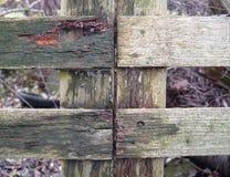 выдержанная старая загородки Стоковая Фотография RF