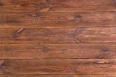 Выдержанная старая коричневая деревенская деревянная предпосылка планок Столешница стоковое изображение