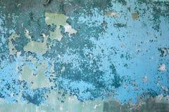 выдержанная стена предпосылки голубая конкретная старая Стоковое Изображение