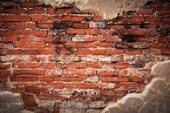 выдержанная стена части кирпича Стоковые Изображения